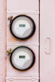 Smart grid residential digital power supply watthour meters Royalty Free Stock Image