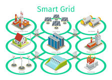 Smart grid vector diagram Stock Images