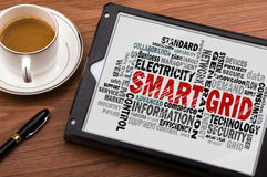 Smart grid word cloud Stock Photo
