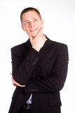 Smart guy in suit Royalty Free Stock Photography