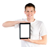 Smart guy with the tablet Stock Photos