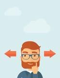 Smart guy thinking of choice Stock Photos