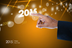 Smart hand showing 2015 Stock Images