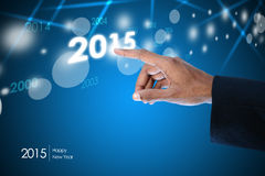 Smart hand showing 2015 Royalty Free Stock Images