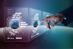 Smart hand showing futuristic technology Royalty Free Stock Image