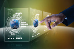 Smart hand showing futuristic technology Royalty Free Stock Photos