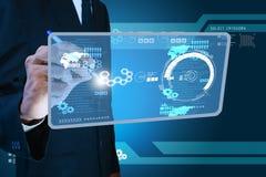 Smart hand showing futuristic technology Stock Photo