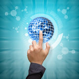 Smart hand touch the digital world Royalty Free Stock Photography