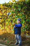 Smart happy little boy taking selfie Royalty Free Stock Images