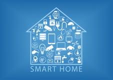 Smart hem- automation som illustration stock illustrationer