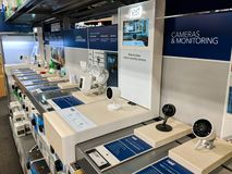 Smart-hem kameror och övervakningsutrustning Royaltyfri Fotografi