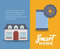 Smart hemdesign vektor illustrationer