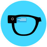 Smart hipster glasses icon Royalty Free Stock Photo