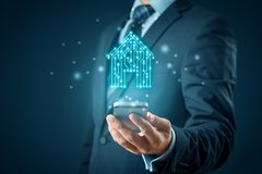 Smart home app concept royalty free stock photo