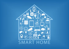 Smart home automation as  illustration Royalty Free Stock Photo