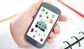 Smart home automation concept on a smartphone Royalty Free Stock Image