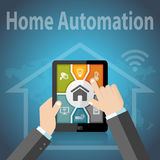 Smart Home Automation Control Apps Royalty Free Stock Photography