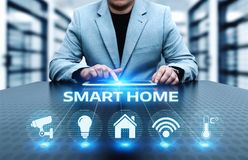 Smart home Automation Control System. Innovation technology internet Network Concept Stock Photo