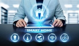 Smart home Automation Control System. Innovation technology internet Network Concept Stock Image