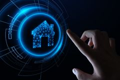 Smart home Automation Control System. Innovation technology internet Network Concept.  royalty free stock images