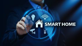 Smart home Automation Control System. Innovation technology internet Network Concept stock photos