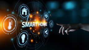 Smart home Automation Control System. Innovation technology internet Network Concept.  royalty free stock photo