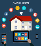 Smart home automation Stock Image