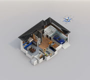 Smart home automation technology concept image with copy space.  stock illustration