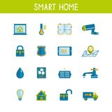 Smart Home Automation Technology Icons Set Royalty Free Stock Photography