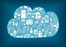 Smart home cloud computing. stock illustration