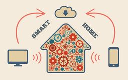 Smart home. In the cloud concept symbol vector illustration Royalty Free Stock Photos
