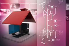 Smart home concept Stock Image