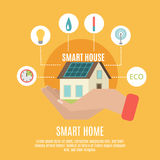 Smart home concept flat icon poster Royalty Free Stock Images