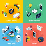 Smart Home Concept Icons Set Stock Image