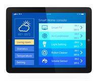 Smart home console Stock Images