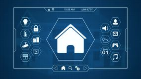 Smart home control panel Royalty Free Stock Images