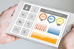 Smart home dashboard in order to control home appliances. Royalty Free Stock Photo