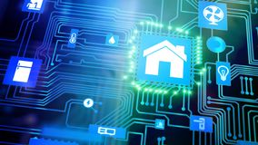 Smart Home Device - Home Control stock footage
