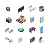 Smart Home Elements  Isometric Icons Collection Royalty Free Stock Image