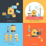 Smart Home Flat Stock Photography