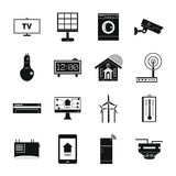 Smart home house icons set, simple style Royalty Free Stock Photography