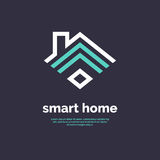 Smart home icon. Emblem sign Wi-Fi. Royalty Free Stock Photos