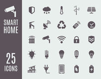 Smart home icon set. Automation control systems. Vector illustration royalty free illustration