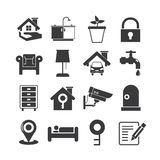Smart home icons. Collection of 16 smart home icons vector illustration