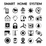 Smart home icons. Collection of 25 smart home icons Royalty Free Stock Photos