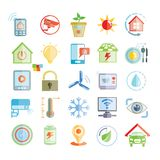 Smart home icons. Collection of 25 smart home and home automation icons Royalty Free Stock Image