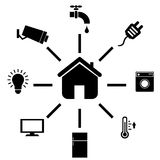 Smart home icons Stock Photos