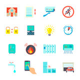Smart Home Icons Set Royalty Free Stock Photography