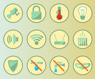 Smart home icons Set. Smart home system icons set. Vector illustration Stock Images