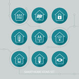 Smart home icons set. Royalty Free Stock Photo